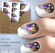 Nail Tools Beautiful Dream Flower Nail Art Sticker Water Transfer Printing Sticker Feathers Plane Water Stick