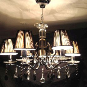 Top quality Crystal Chandelier with 6 Lamp Shade (Electrochromism Finish)
