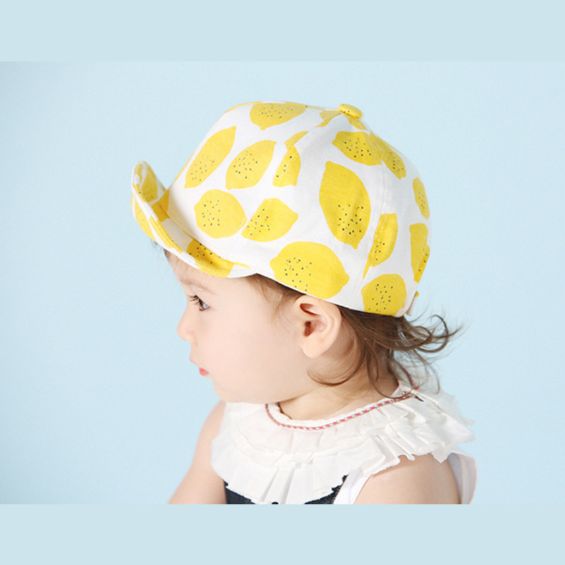 Summer Fashion Baby Hat Kids Boy Girl Sun Protection Cap Lemon Style Infant Children Cotton Hats Toddler Beach Sun Hat Casquette(China (Mainland))
