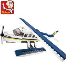 Sluban B0361 Navy hidroavión Airplan 3D construcción de plástico modelo Building Blocks ladrillos