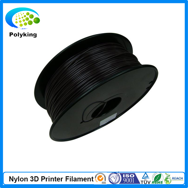 Black color PA Nylon 3D printer filament 1 75mm 3 0mm 1kg 2 2lbs Consumable Material