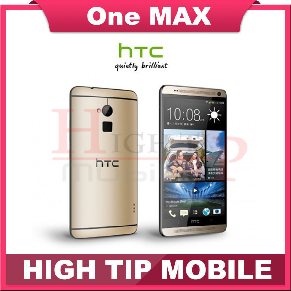 """HTC ONE MAX 2G RAM 16G ROM 4 Cores smartphones1080P 5.9"""" Screen Fingerprint Scanner Android 4.4 4G LTE mobile phones refurbished(China (Mainland))"""