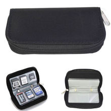 Black Memory Card Storage Carrying Case Holder Wallet For CF or SD or SDHC or MS or DS CA(China (Mainland))