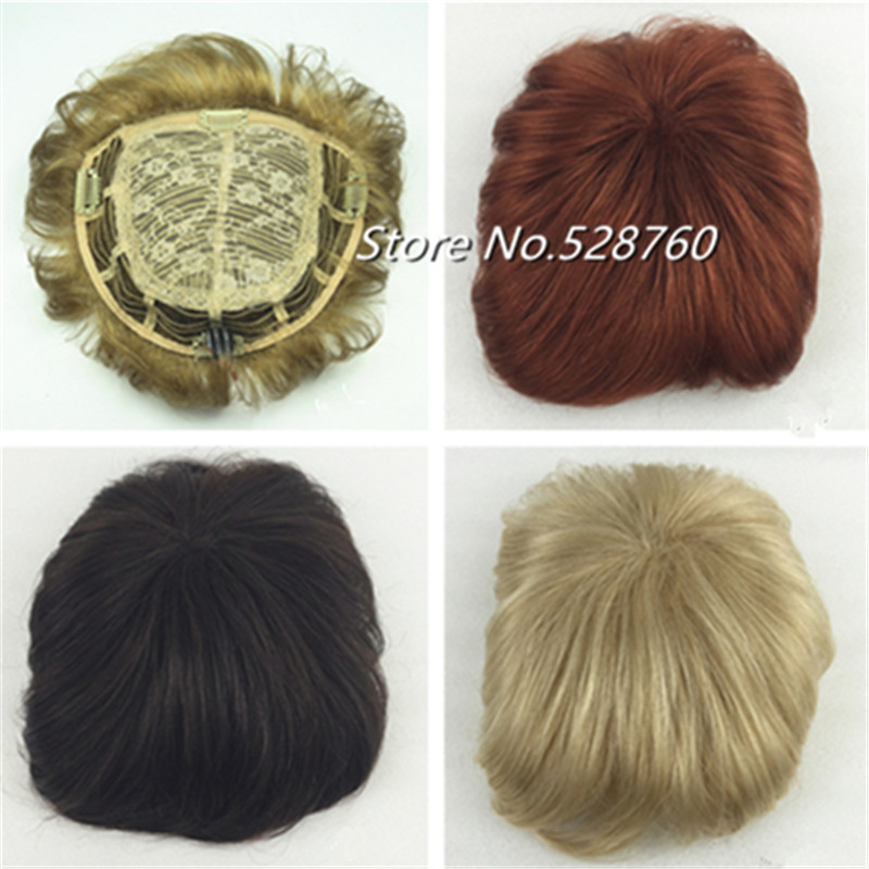 Mens toupee and women 's toupees Good quality Synthetic hair Toupees hair loss top piece Free Shipping