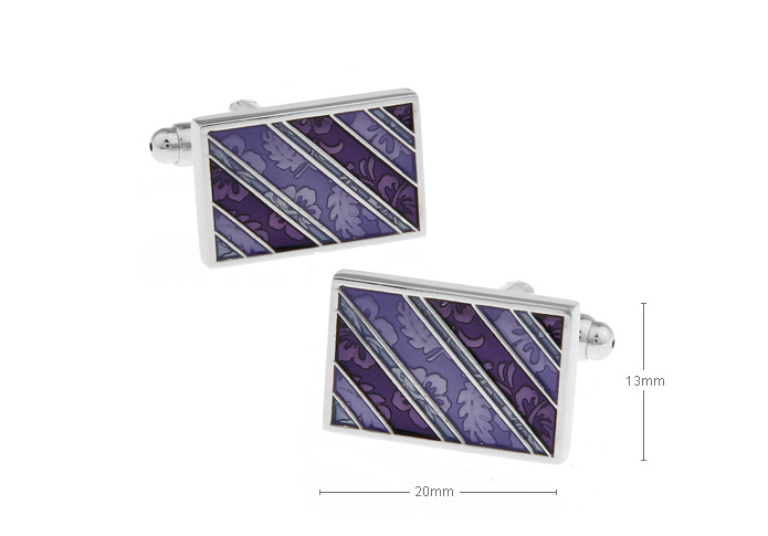 Busness Type Cufflinks,Rectangular diagonal stripes purple enamel cufflinks.men's cufflinks,jewelry(China (Mainland))