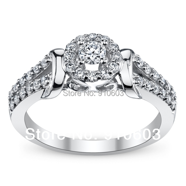 Cherish 9K White Gold Diamond Engagement Ring 0 25 Carat ASCD Lab Grown Diamo