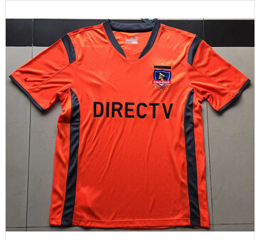 Thai quality 2015 16 Chile Colo-Colo soccer jerseys Club Social y Deportivo Colo-Colo orange football shirt short sleeve jersey(China (Mainland))