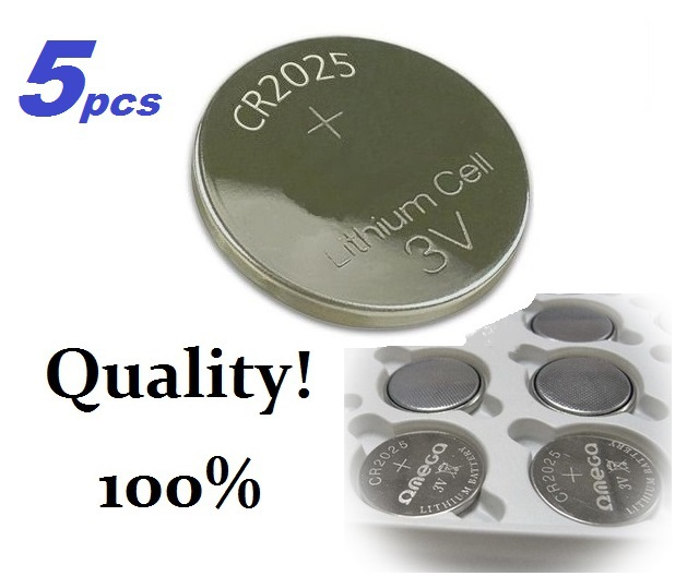 5 pcs CR2025 ECR2025 2025 BR2025 KL2025 L2025 3v lithium battery Cell Button Laser LED Toys Scale(China (Mainland))