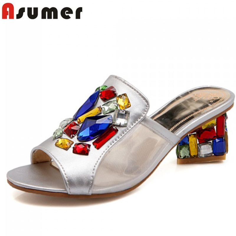 2015 new fashion women shoes summer high heels lady round peep toe square sandals