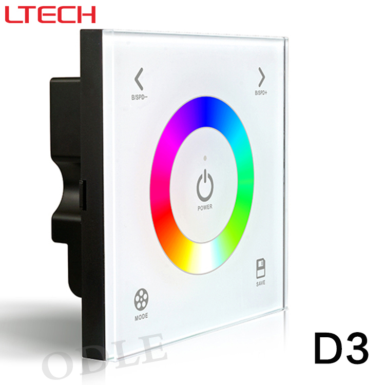D3 New Led Touch Panel Rgb Controller Glass Touch Panel Wall Mount Led RGB Full Color Controller DC12-24V 5 YEAR WARRANTY(China (Mainland))