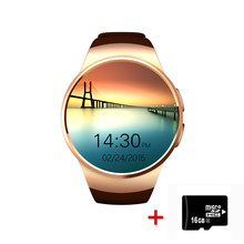 KW18 2016 newest smart watch for apple samsung android support heart rate monitor health full round smartwatch wearable devices