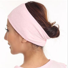1 PC 2016 Adjustable Women Beauty Elastic Wash Face Makeup SPA Stretch Hair Band Headband 3 colors(China (Mainland))