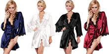 Luxury Women Nightwear Satin Dressing Gown Robe Kimono Sleepwear Lingerie NWT Hot