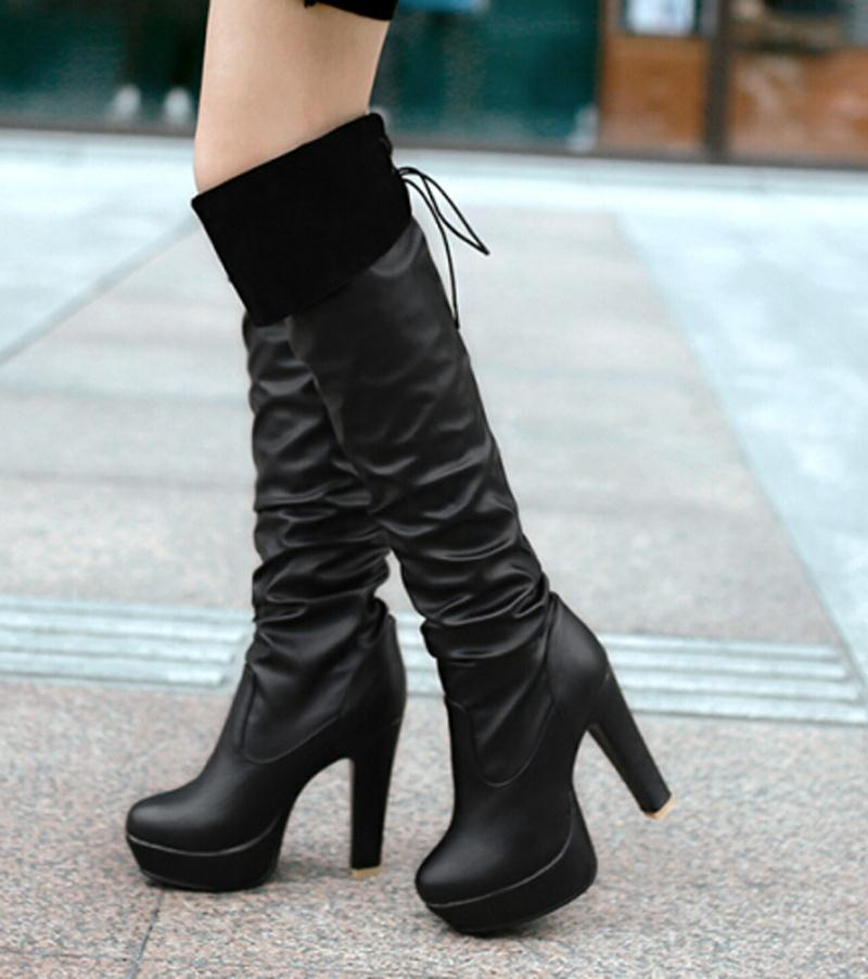 new boots fashion thigh high boots thick high