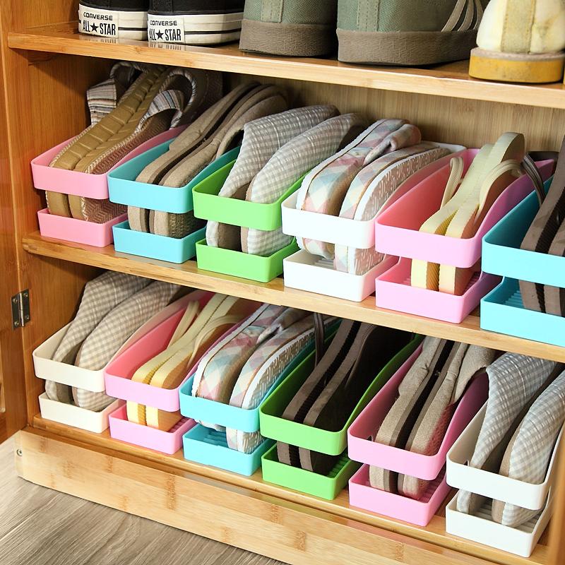 Multi-purpose Shoes Organizer Plastic Shoe Storage Box Korean Style Sock Underwear Shoe Hanger to Organize Shoe(China (Mainland))
