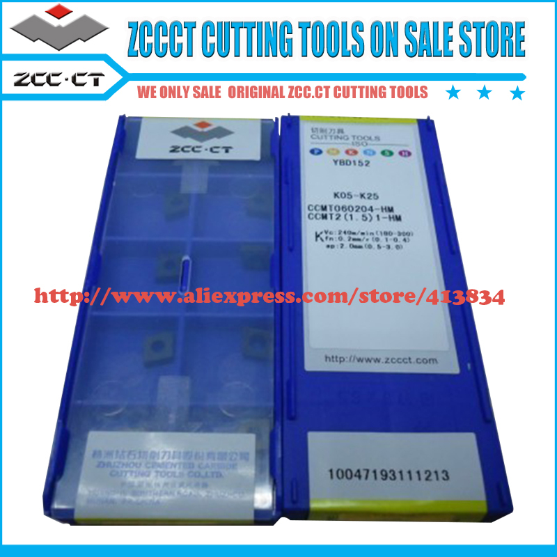 Free Shipping 50 pieces CCMT060204-HM YBD152 CCMT ZCC.CT Cemented Carbide CNC Cutting tools turning insert(China (Mainland))