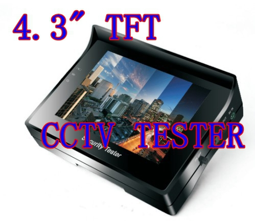"""4.3"""" inch TFT Color LCD Monitor CCTV Security CCD Camera Video Test Tester 12V OUTPUT(China (Mainland))"""