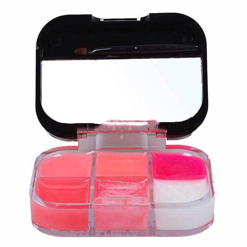 Carroteer Shop Fashion New Arrival Women Makeup 6 Colors Moisture Lipstick Cosmetic Lip Gloss Palette Kit Set A(China (Mainland))