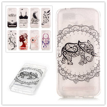 New Painting Clear Transparent Soft TPU Cover Case for huawei Y3 II Soft Plasitc butterfly feather Capa Para Phone Bag