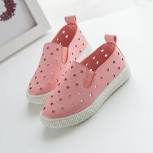 Summer Unisex Leather Flat Air Hole Boys Girls Kids Baby Shoes(China (Mainland))