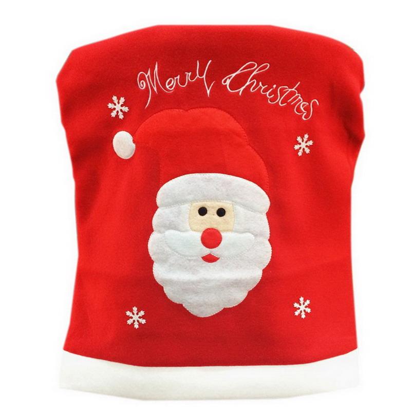 1pc 49 55cm Merry Christmas Santa Claus Snowman Chair Back