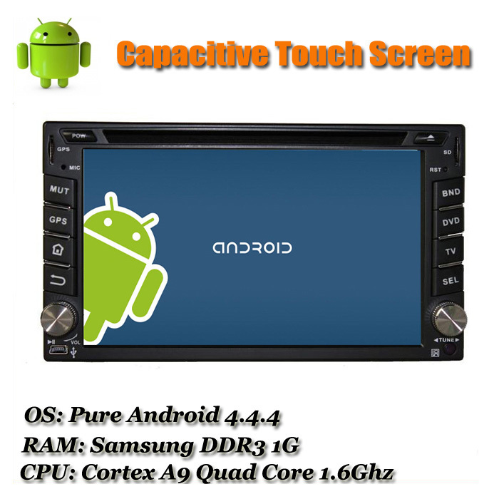 Available QUAD CORE 2 din GPS Android 4.4.4 Universal 178*100mm Car DVD Sat Navi with Capacitive Touch Screen AUX-IN WiFi Map(China (Mainland))