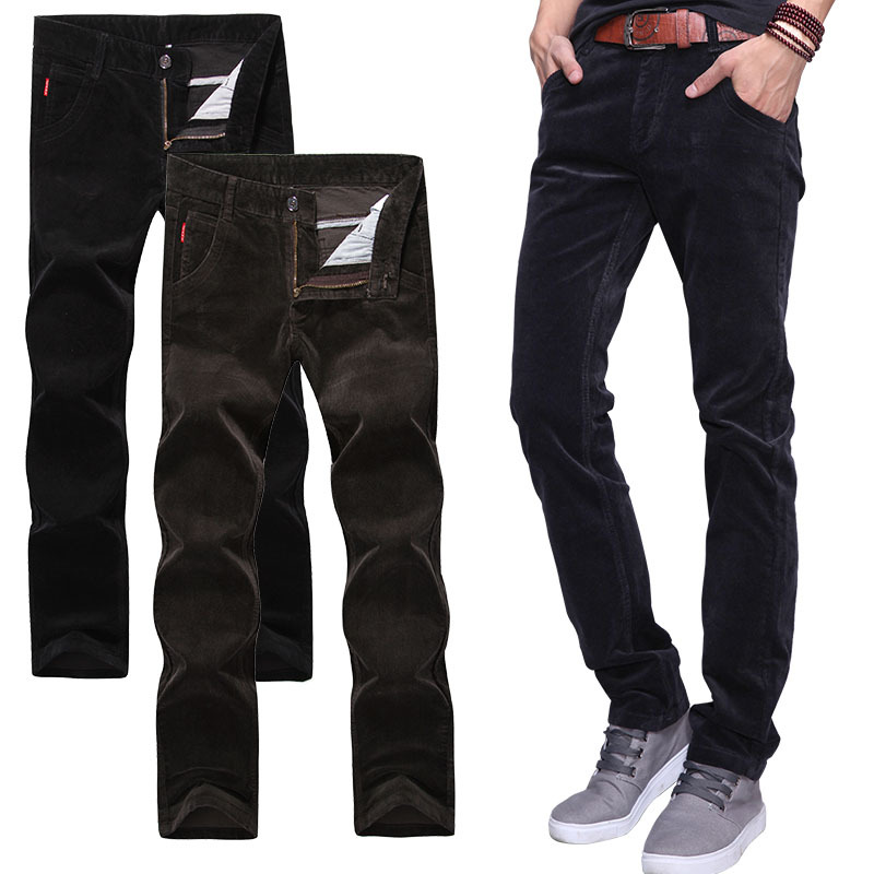 2016 autumn and winter thick section corduroy men's casual pants men's corduroy trousers Korean Slim straight jeans male child t(China (Mainland))