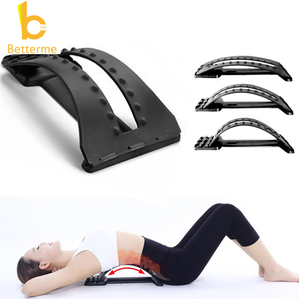 Back Massage Magic Stretcher Fitness Equipment Stretch Relax Mate Stretcher Lumbar Support Spine Pain Relief Chiropractic Hot(China (Mainland))