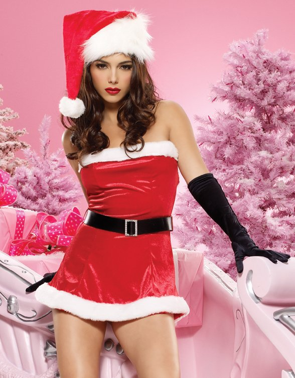 Sexy Red Christmas Santa Claus Naughty Santa Claus Costume For Men