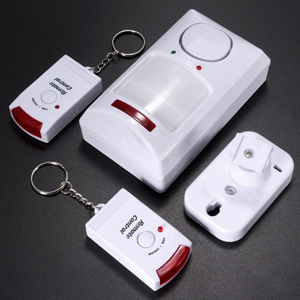 High Quality Best Price Portable IR Wireless Motion Sensor Detector + 2 Remote Home Security Burglar Alarm System Easy To use(China (Mainland))