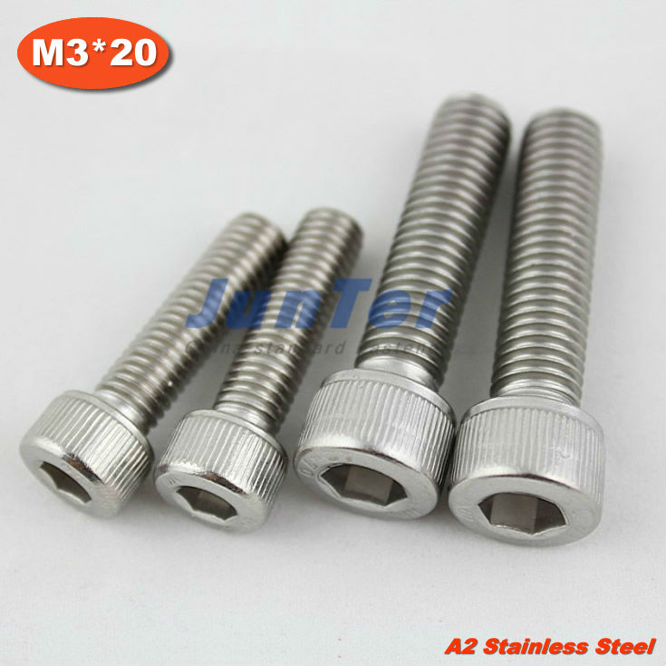 1000pcs/lot M3*20mm DIN912 A2 Stainless Steel Hex Socket Head Cap Screw<br><br>Aliexpress