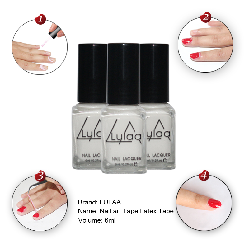 Whitenail art Tape Latex Tape & finger skin protected liquid Palisade Easy clean Base Coat care nail polish(China (Mainland))