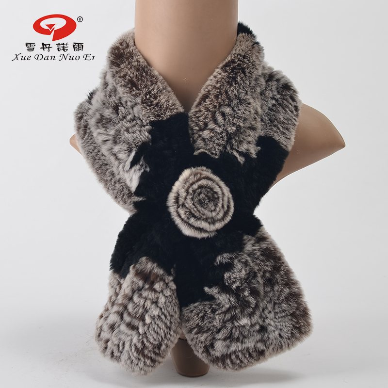 Natural Rex rabbit fur kintted scarf women winter real fur 2016 new arrival shawl for new year hot sale fashional and elegant(China (Mainland))