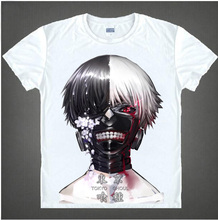 New Tokyo Ghoul T-Shirt Anime Ken Kaneki T shirt Fashion Men Women Clothes Short Sleeve Tshirt Tops
