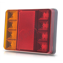10pairs/lot  Waterproof 8 LED Tail Light Rear Lamps Pair Boat Trailer Submersible 12V Rear Parts for Trailer Truck Boat