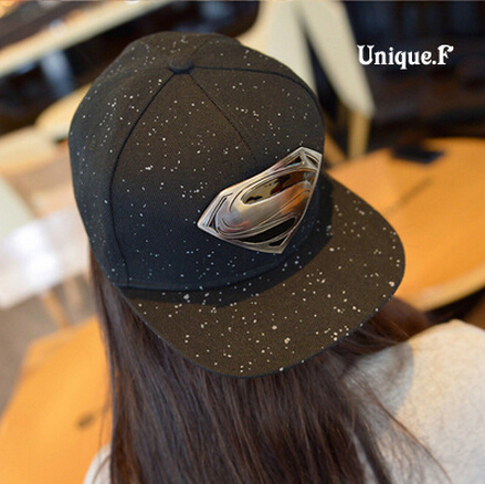 2015 New fashion unisex Baseball Caps,superman batman Hip-hop Cotton Peaked hat,casual outdoor travel snapback Diamond sunhat(China (Mainland))