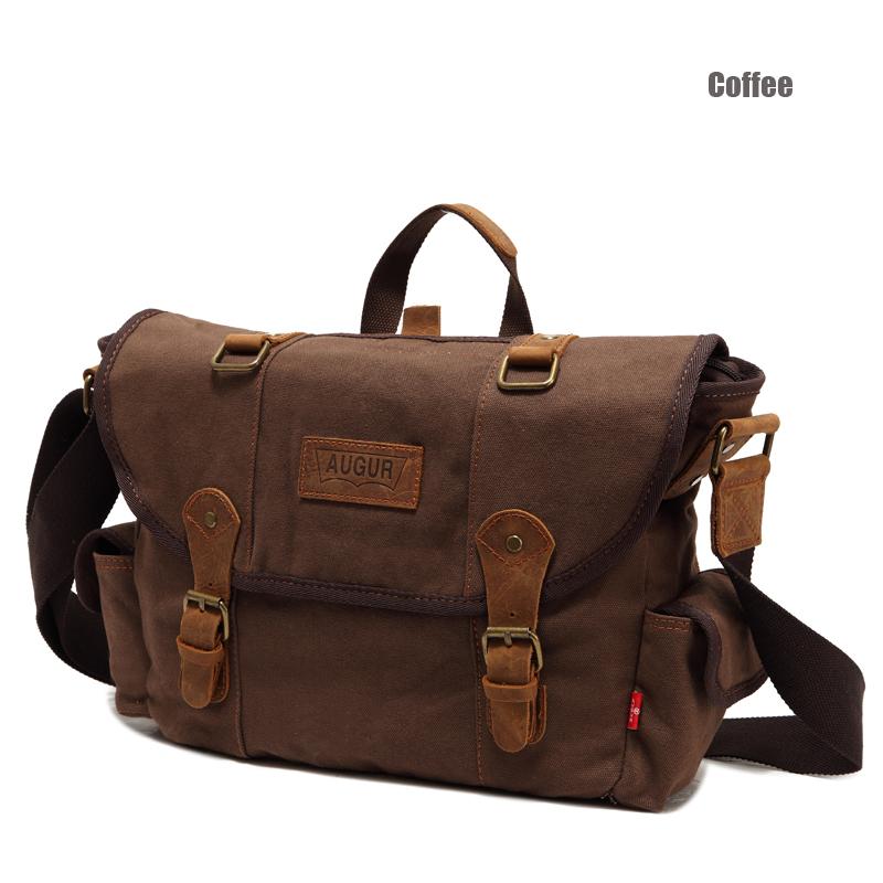 Ao Grid / AUGUR Canvas Bag Wholesale Men's Casual Shoulder Bag