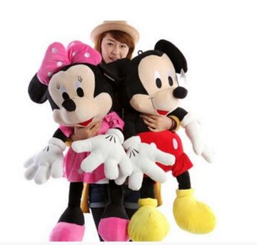 large 100cm cartoon toy Mickey, minnie mouse plush toy ,throw pillow toy ,birthday gift a1643(China (Mainland))