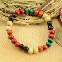2018 nowy styl etniczny seria kolorów drewniany koralik rozciągliwa bransoletka okrążenie małe koraliki biżuteria specjalna sprzedaż hurtowa dla kobiet i mężczyzn(China)