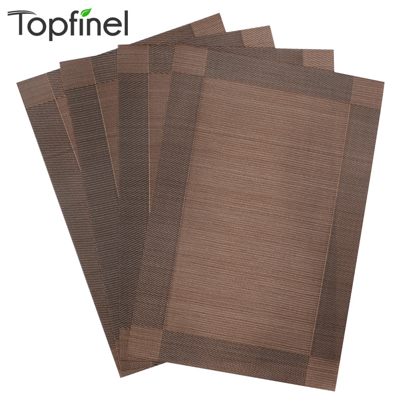 Top Finel 4pcs/lot PVC Decorative Vinyl Placemats for Dining Table Runner Linen Place Mat in Kitchen Accessories Cup Coaster Pad(China (Mainland))