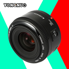 Buy Yongnuo 35mm F/2 lens YN35mm F2 lens Wide-angle Large Aperture Fixed Auto Focus Lens Canon EF Mount EOS Cameras for $111.00 in AliExpress store