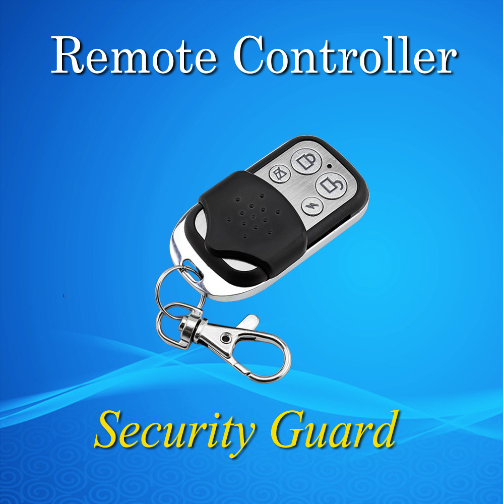 2016 Free Shipping 433 MHZ For PSTN GSM Home Burglar Security Alarm System Wireless Remote Controller Black Long Distance(China (Mainland))
