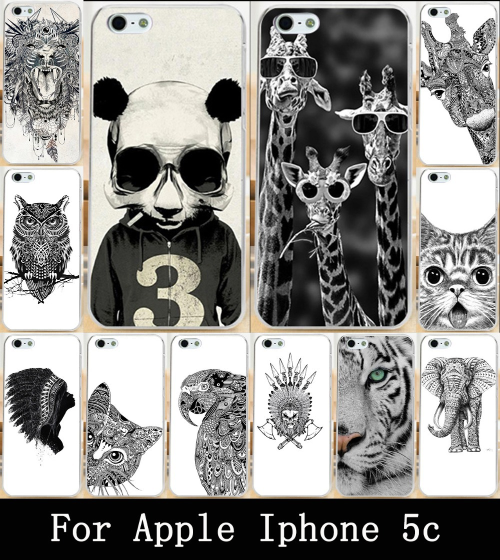 Cute Animal Owl Giraffe Cat Elephant For Apple iphone 5c Case Cover Painting Skin Custom Hard Phone PC Case Cover For iphone 5c(China (Mainland))