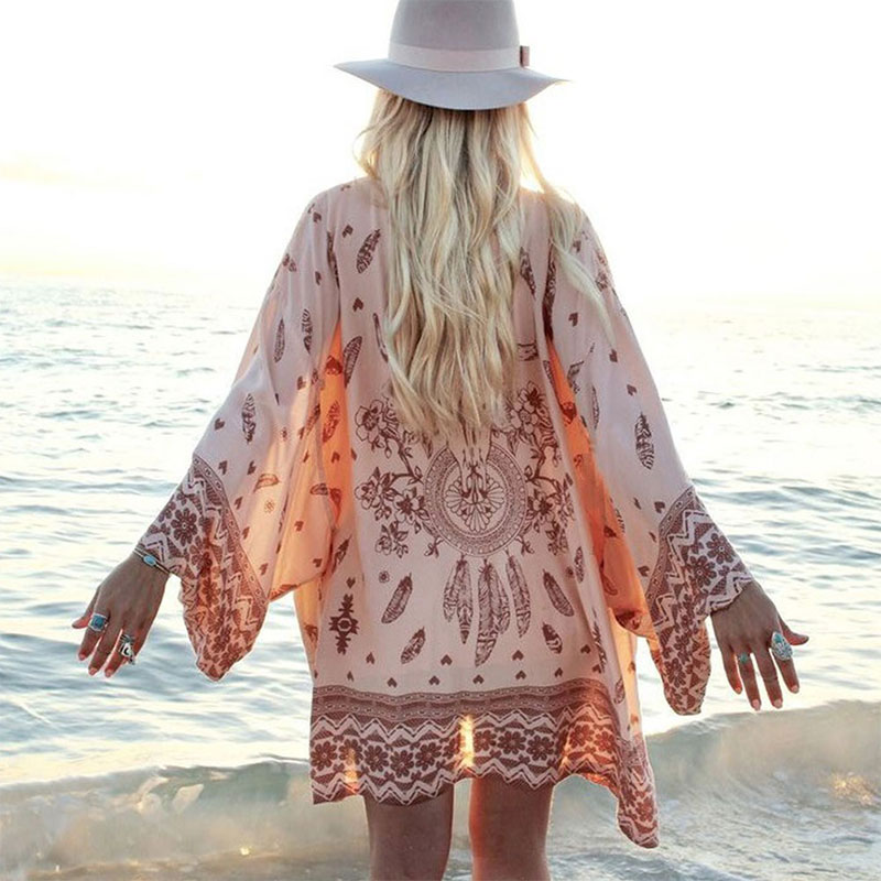 Printed Casual Kimono With BeltОдежда и ак�е��уары<br><br><br>Aliexpress