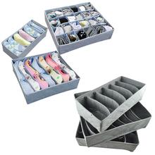 Feitong 3pcs/set Fodable Portable Non Woven Bamboo Charcoal Fibre Storage Box For Bra Underwear Socks Necktie(China (Mainland))