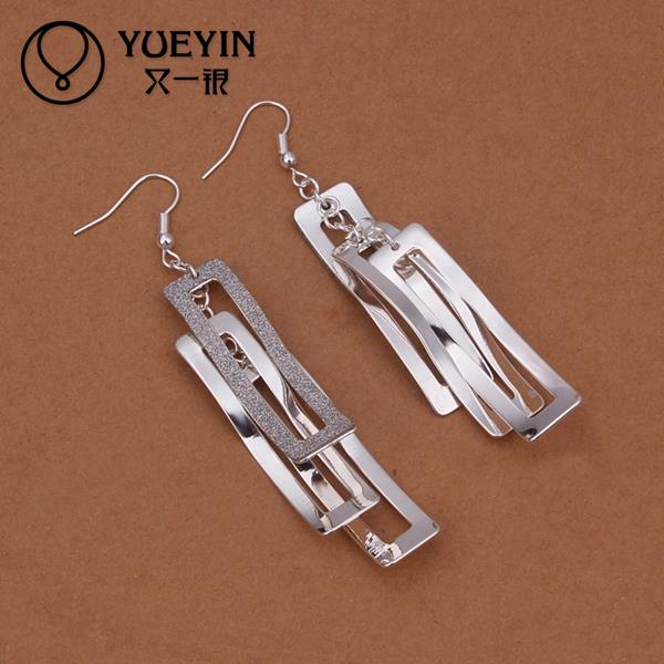 Hot sale fine Jewelry E323 2015 New supplies Silver Plated Women Earrings fashion high quality(China (Mainland))