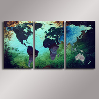 World Map painting Oil Painting  100% Hand Painted Modern Wall Art Painting ,Abstract  oil painting WM-008