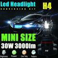 H4 9003 HB2 12V 24V 30W 3000Lm Led Headlight Bulb Headlamp Kit 6000K White High Power