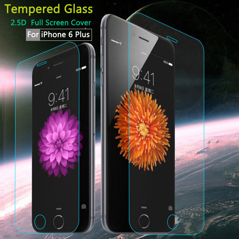 Phone 6 Plus 5.5 Tempered Glass Screen Protector Anti-Shock Protective Film for Phone Screen Protector Full Cover Retail Package(China (Mainland))