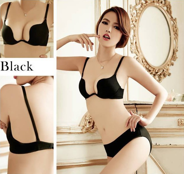 New Brand Design New Fashion Deep V Low Cut Women Sexy Push Up Bra Backless Invisible Convertible Seamless Brabalconette bra(China (Mainland))